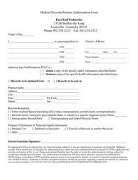 Hipaa Medical Records Release Form Templates - Fillable & Printable ...