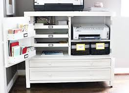 storage ideas for office. organized printer station slide out trays bins attached to the cabinet doors and home office storagehome storage ideas for