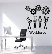 office wall stickers team business work wall sticker vinyl decals teamwork office interior decoration creative black office wall stickers