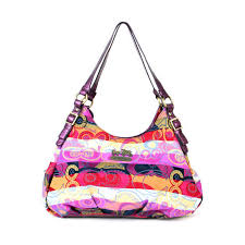 Coach Fashion Signature Medium Purple Shoulder Bags BCC
