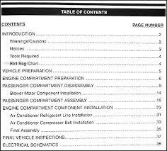 1999 kia sephia a c installation manual original