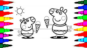 Learn Art L How To Draw And Color L Peppa Pig Drawing Coloring