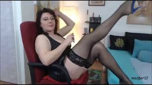 Lady Roberta in black stockings and heels YouTube
