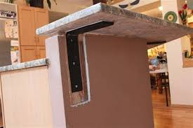 image of quartz countertop support brackets