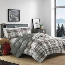 ed bauer rugged plaid comforter set down alternative red white blue bedding twin quilt edgewood duvet navy sets in bag canada flannel queen premium