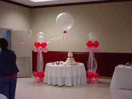decoration: Simple Ballon Decoration With Sweet Cake Side Simple Glass On  Round Table Side Unique