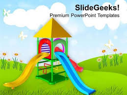 Kids Powerpoint Background Play Ground For Kids Playing Powerpoint Template Powerpoint
