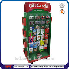 Wooden Greeting Card Display Stand TSDM100 Rotating metal greeting card display standgift card 88