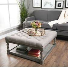ottoman living room. storage coffee table ottoman square large for living room tufted modern linen b