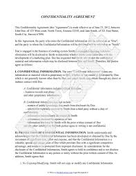 Sample Confidentiality Agreement | Beneficialholdings.info