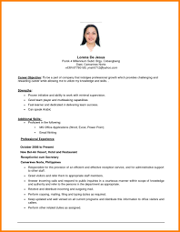 Housekeeping Resume Objective Examples Professional Resume Templates