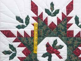 Christmas Cardinal Feathered Star Quilt -- outstanding specially ... & ... Christmas Cardinal Feathered Star Wall Hanging Photo ... Adamdwight.com