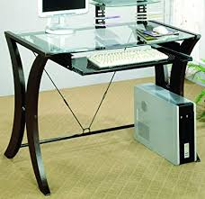 Desk glass top Furniture Image Unavailable Amazoncom Amazoncom Coaster 800445 Division Table Desk With Glass Top