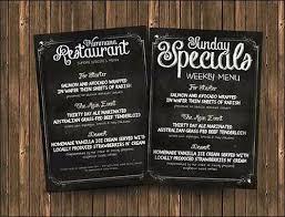 Sample Chalkboard Menu Template Custom Indian Restaurant Menu