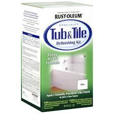 white tub and tile refinishing kit