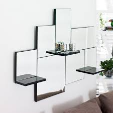 lovely mirrored wall shelf small home decoration ideas triple mirror dwell loading zoom panel with hooks