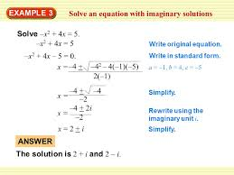 solve an equation with imaginary solutions