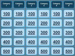 Sample Jeopardy Powerpoint jeopardy powerpoint template GREAT for quiz bowl catechism bible 1
