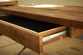 diy home office desk plans. Kitchen: Fabulous Wooden Desk Which Is Completed With Small Drawer That Designed Using Simple Diy Home Office Plans