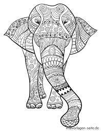 Mandala elefant gekritzelart elephant doodle style free. Mandala Erwachsene Elefant Kostenlose Ausmalbilder