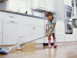 Kitchen Floor Mop Cleaning Skills To Teach Your Child