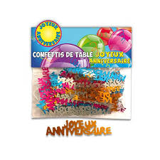 Confettis de table multicolores