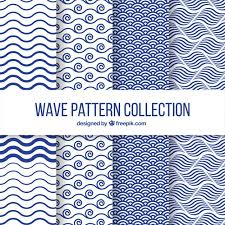 Patterns Amazing Set of four wave patterns in flat design Vector Free Download