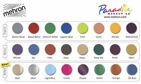 Eyeshadow Color Combination Chart Mehron Paradise Makeup Aq 8 Color Palette