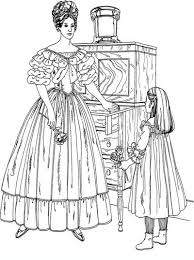 Small Picture Beautiful Victorian woman detailed coloring pages hard Fashion
