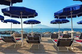 EIGENER STRAND Towers Hotel Stabiae Sorrento Coast im Castellammare di  Stabia