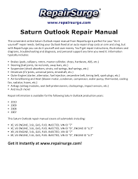 saturn outlook repair manual 2007 2010