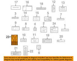 mercedes oem 2003 sl500 labels fuse box info label 2305450100 ebay Circuit Breaker Box image is loading mercedes oem 2003 sl500 labels fuse box info