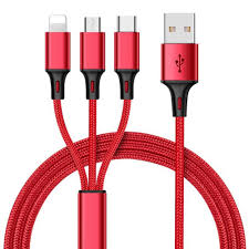 <b>3 In 1 Type C Micro</b> USB Data Cable Charging Cord Universal For ...