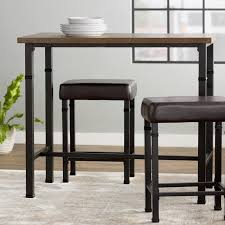 nice rectangle bar table with rectangle pub tables bistro sets youll love wayfair