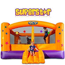 Blast Zone Superstar Inflatable Party Moonwalk: Toys ... - Amazon.com
