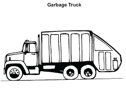 Trash Truck Coloring Pages Dump Truck Colori Page Preschool Pages