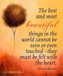 Beautiful Things In Life Quotes Best Of The Best And Most Beautiful Things In The World Can Not Be Seen Or