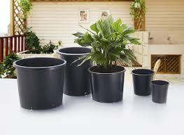 TWR-G gallon pots , black plant pots , big plant container , large plastic flower  pot