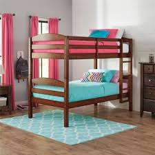 better homes gardens leighton twin over twin bunk bed light cherry