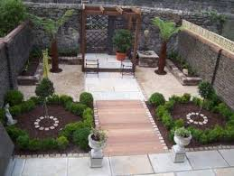 Aerial view - after. This view from an upstairs window shows the overall  layout - a mix of stone, wood and planting.