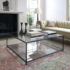 large square coffee table glass top tray