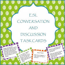 Conversation and Discussion Task Cards