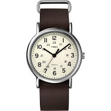timex weekender unisex t2n893 quartz watch off white dial timex weekender unisex t2n893 quartz watch off white dial analogue display and brown leather slip timex amazon co uk watches