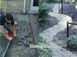 diy garden pavement mold walkway yard
