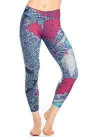 Patterned Yoga Pants Classy Liquido Active Double Effect Patterned Yoga Legging Womens Active