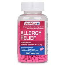 Amazon.com: ValuMeds Allergy Medicine (600 Tablets) Antihistamine ...
