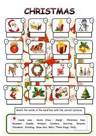 christmas vocabulary worksheet - Free ESL printable ... : free ...
