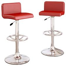 red bar stools. Sonax CorLiving Low Back Bar Stools, Red Leatherette, Set Of 2 Stools O