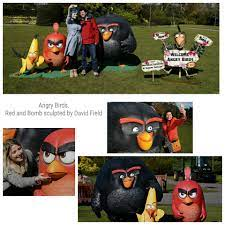 ArtStation - The Red and Bomb Angry Bird characters that I sculpted in clay  at 3deye seen here in their finished form at their London press launch.,  David Field