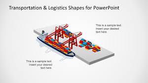 Design For Logistics Ppt Port Logistics Maritime Slide Design For Powerpoint Slidemodel
